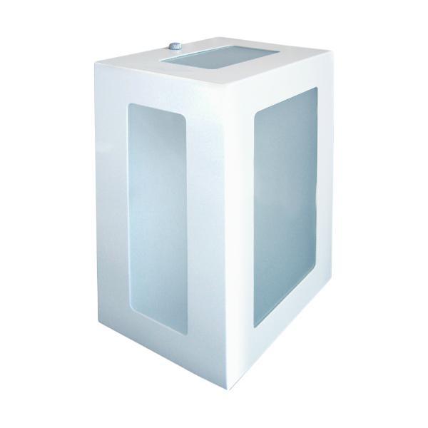 Arandela 5 Vidros em Alumínio e Vidro