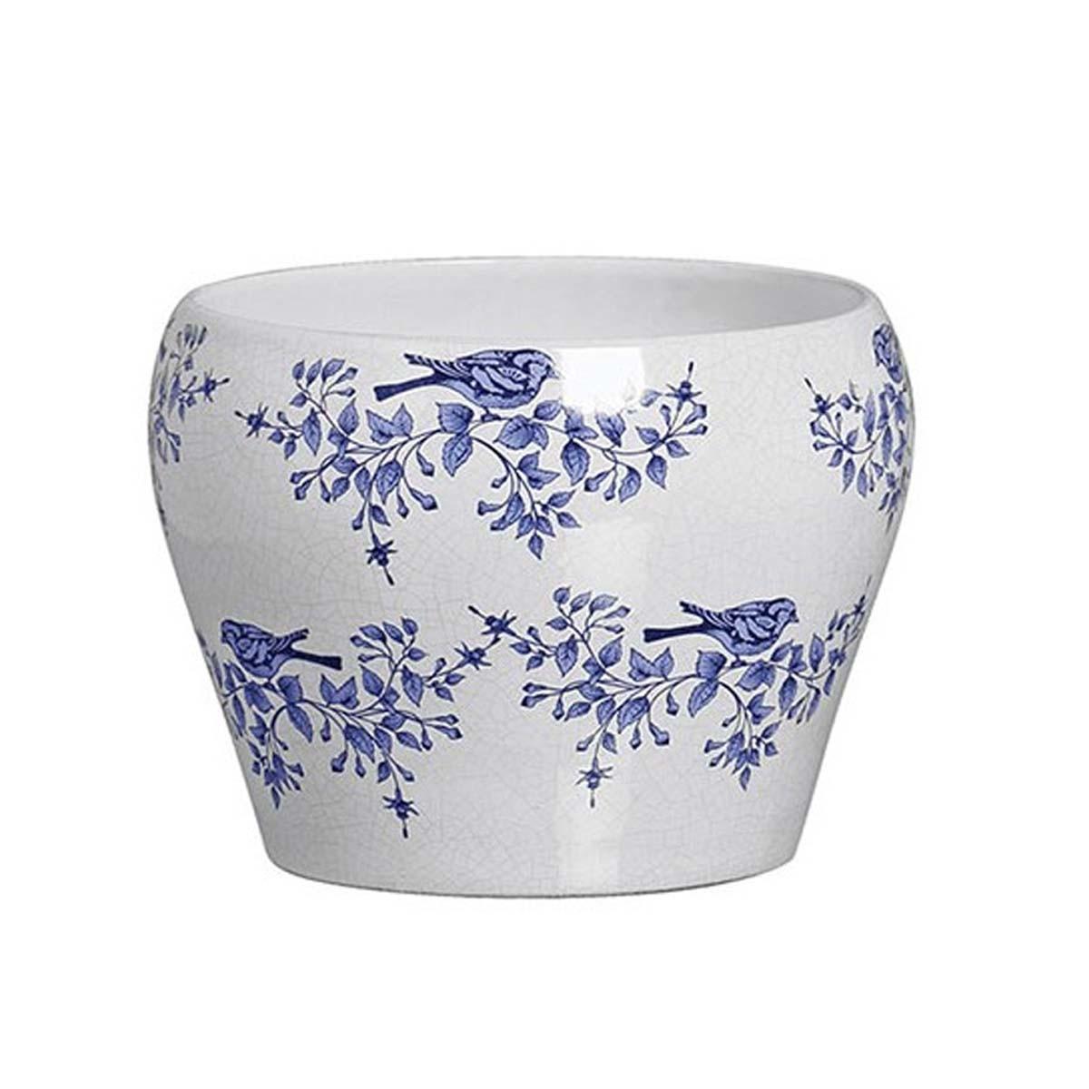 Cachepot de Cerâmica - Chinesa Victoria Branco 15cm