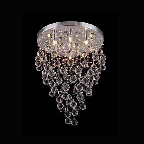 Lustre Plafon de Cristal - Chuva Transparente 55cm