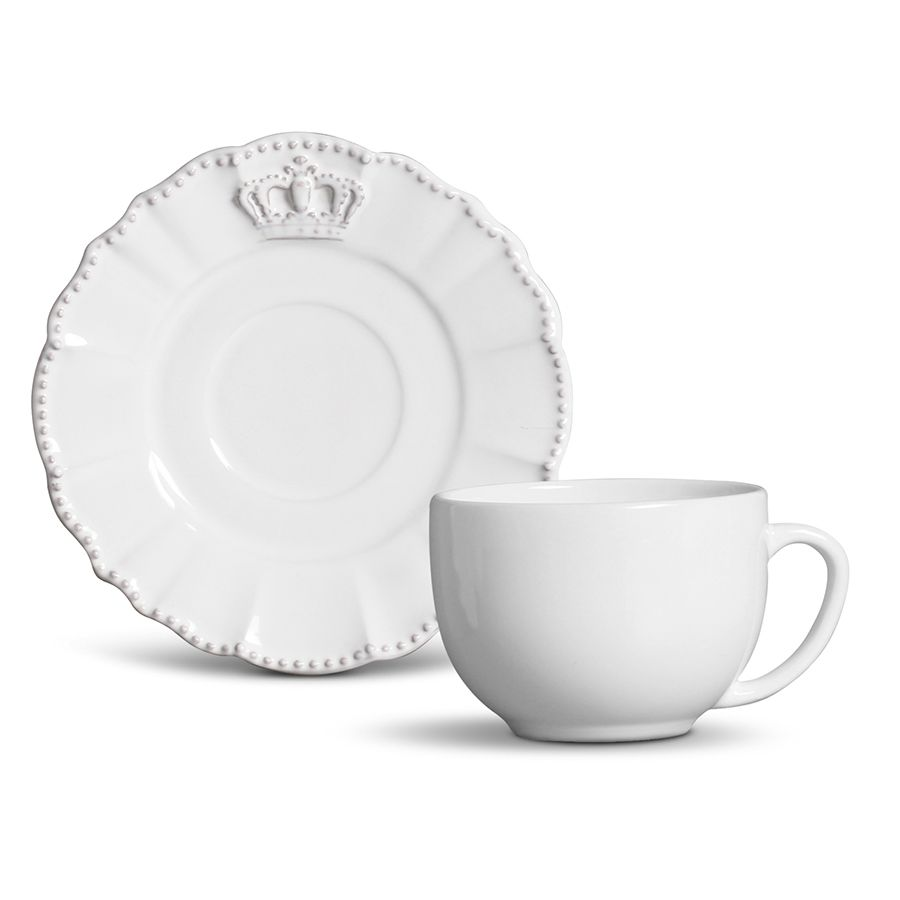 Conjunto Xícaras de Chá Porto Brasil - Windsor para 6 Pessoas (12Pçs)