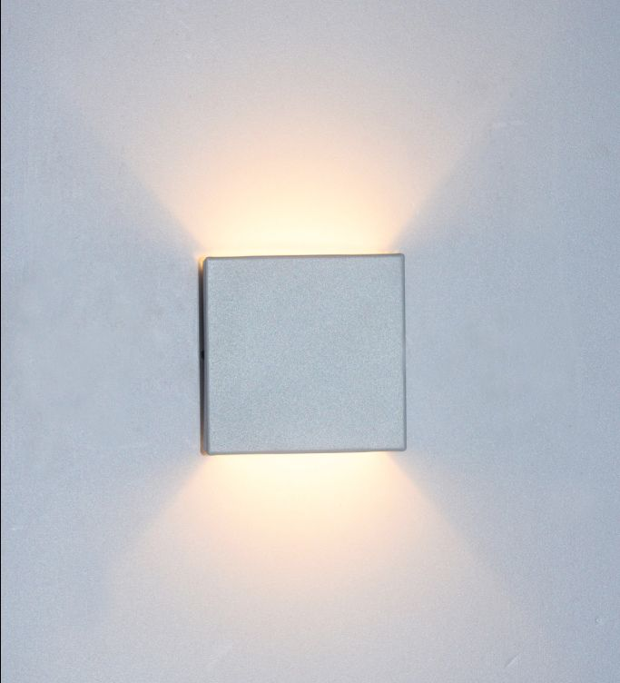 Arandela Externa Dois Fachos com Vidro Turim - Branco