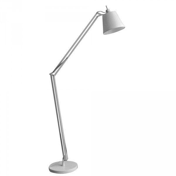 Luminária de Piso Articulada Aço Branco - Bella Scope