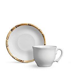Conjunto Xícaras de Chá - Scalla Bambu 6 Pessoas (12Pçs)