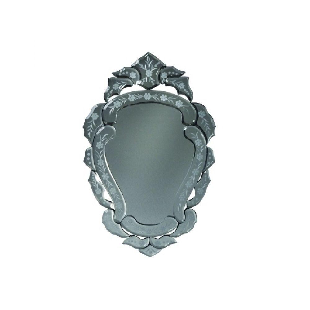 Espelho Veneziano - Moldura Com Detalhes em Vidro Trabalhado 50cm