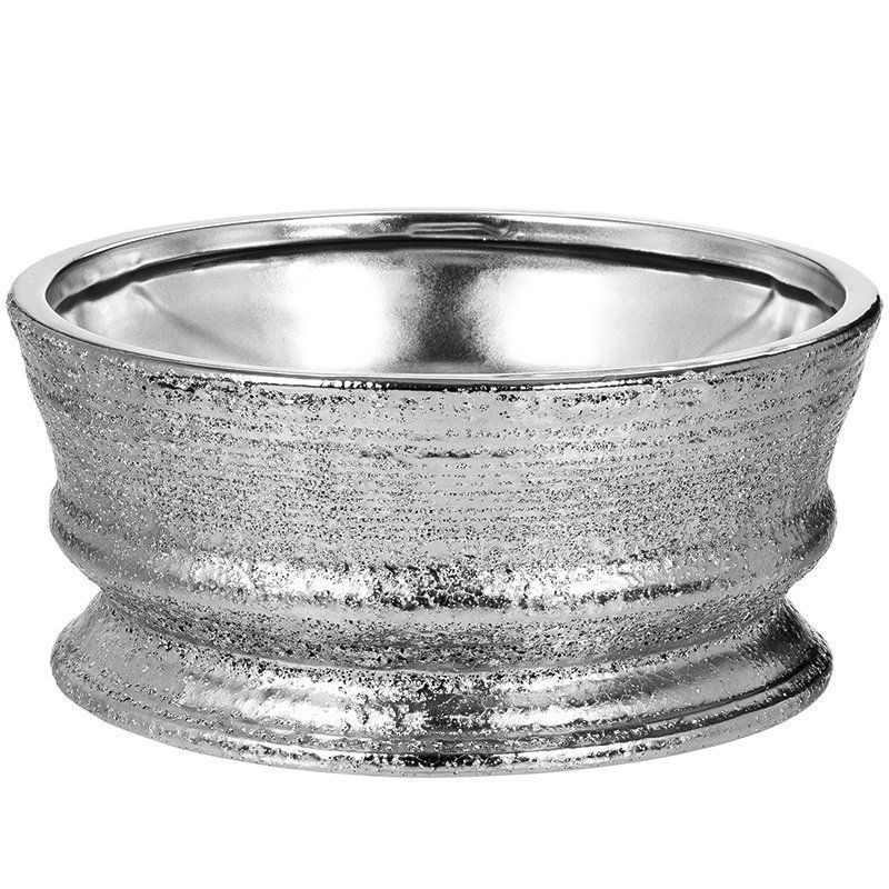 Centro de Mesa de Cerâmica - Prata 30cm