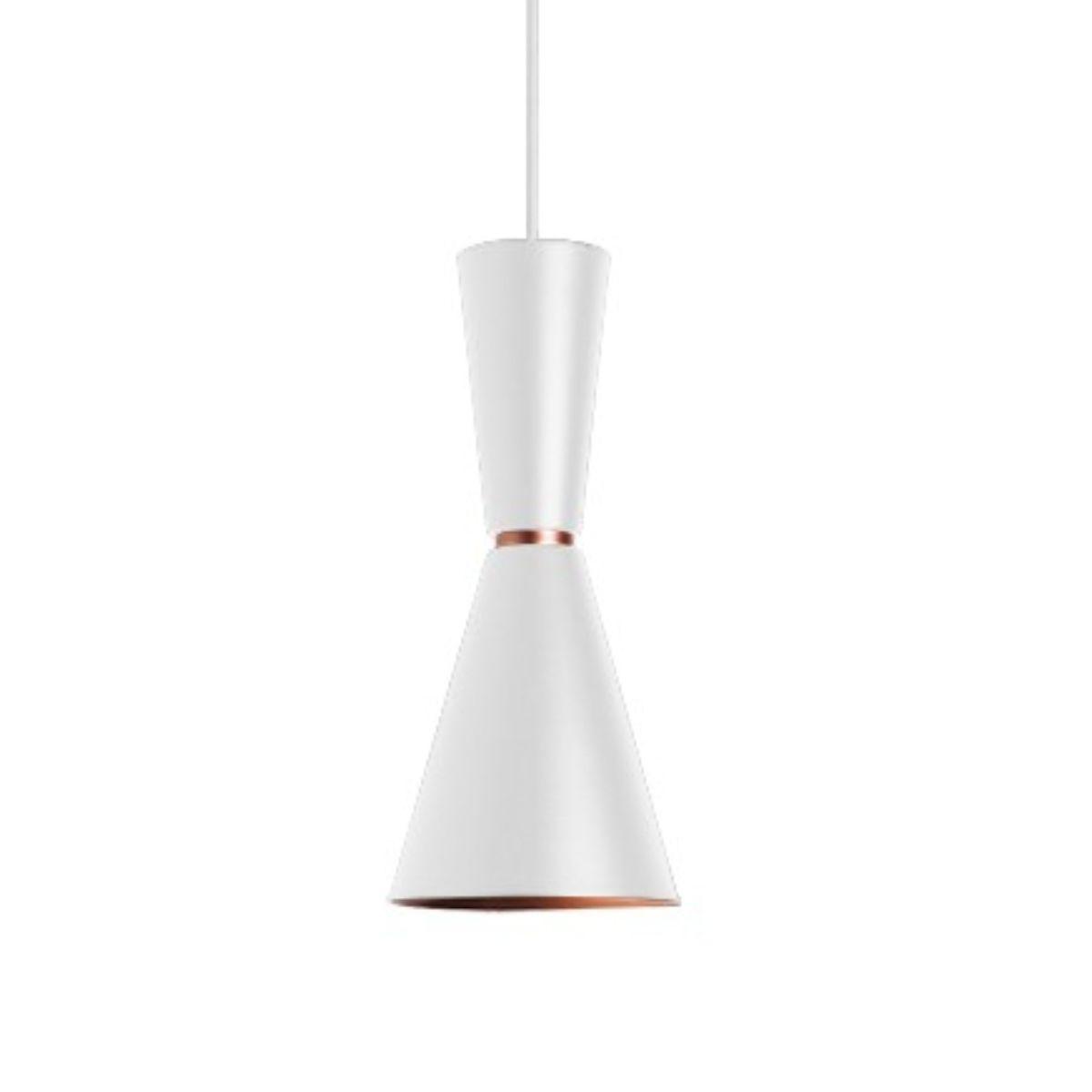 Pendente Alumínio Branco/Cobre - Bambola 41cm Cozinha/Bancada