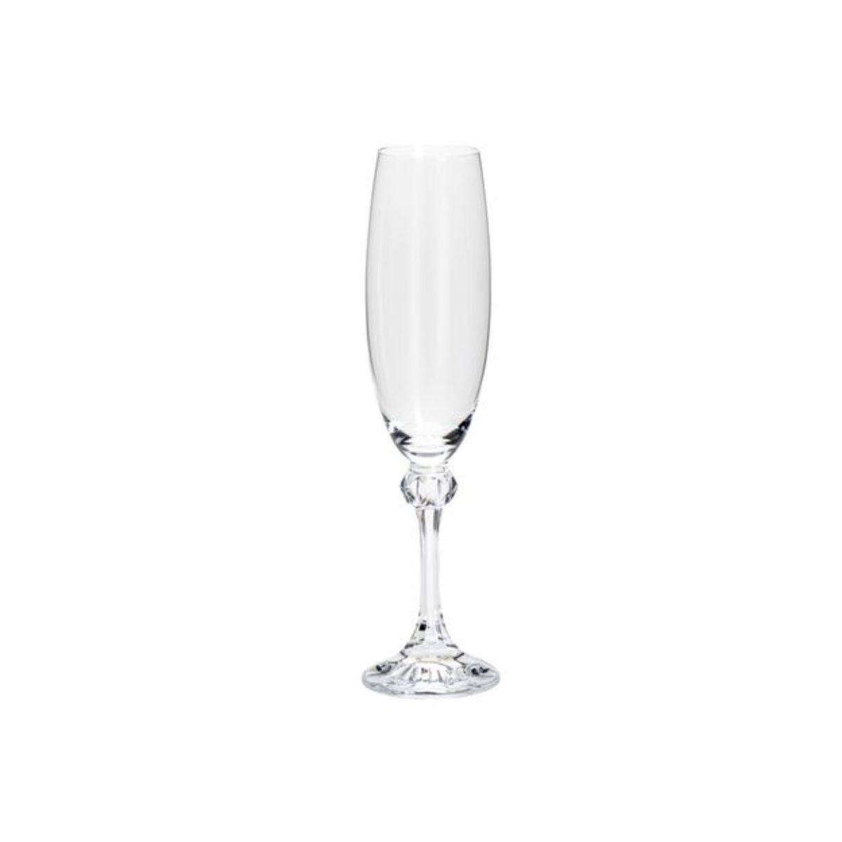 Jogo Taça de Cristal para Champanhe Bohemia Elisa 220ml (6 peças)