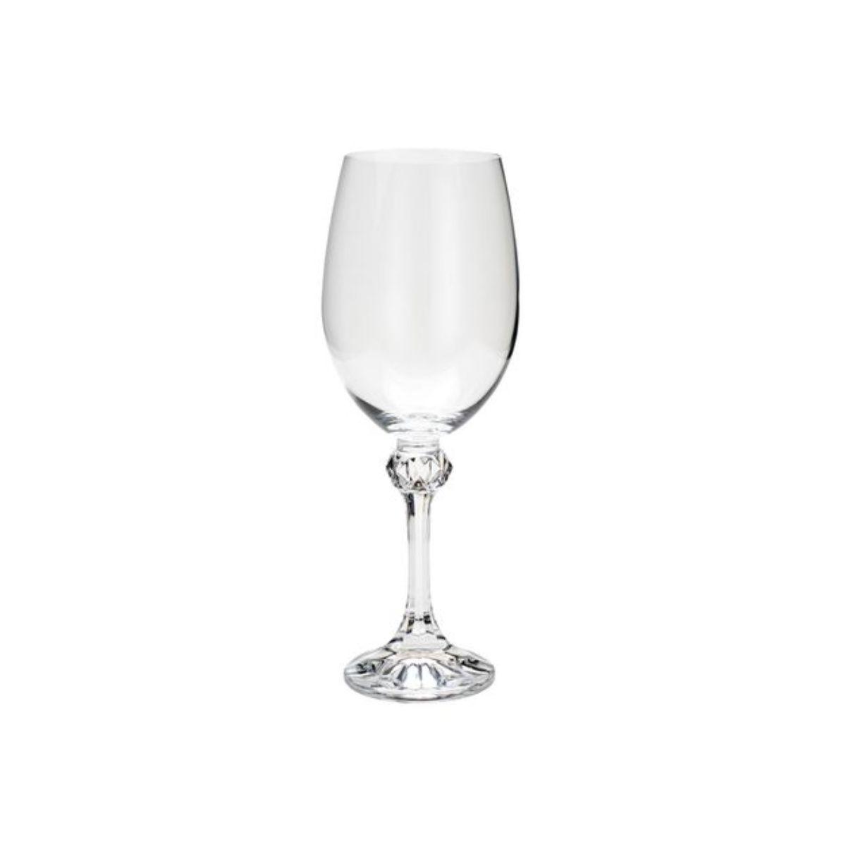Jogo Taças de Cristal para Água - Bohemia Elisa 450ml (6 peças)