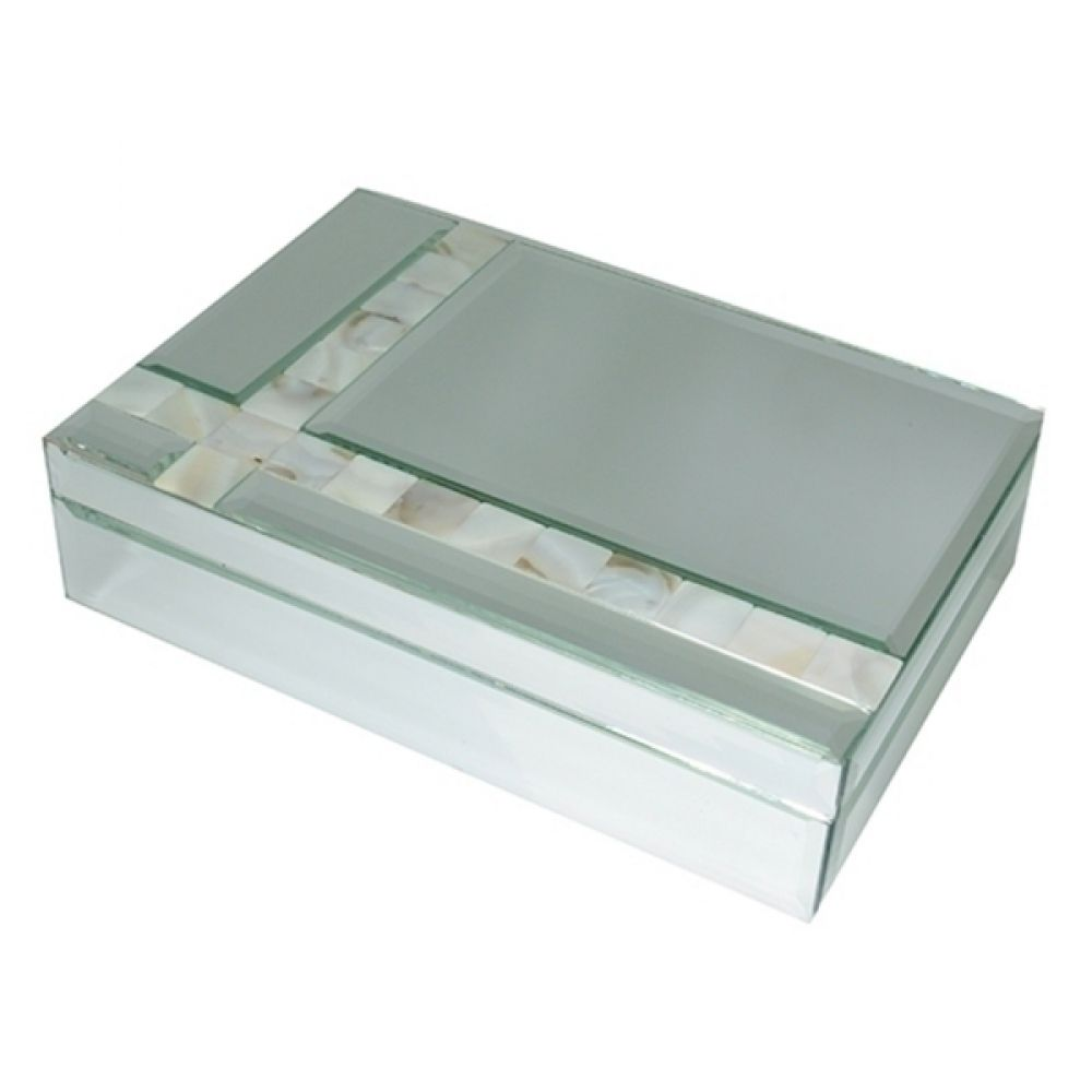 Porta Jóias de Vidro Espelhado - Retangular