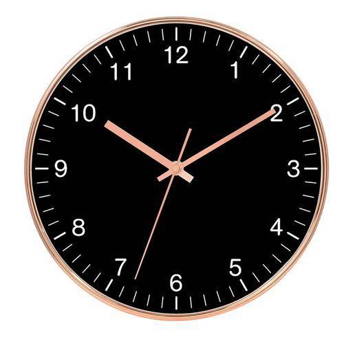 Relógio de Parede - Rose Gold e Preto