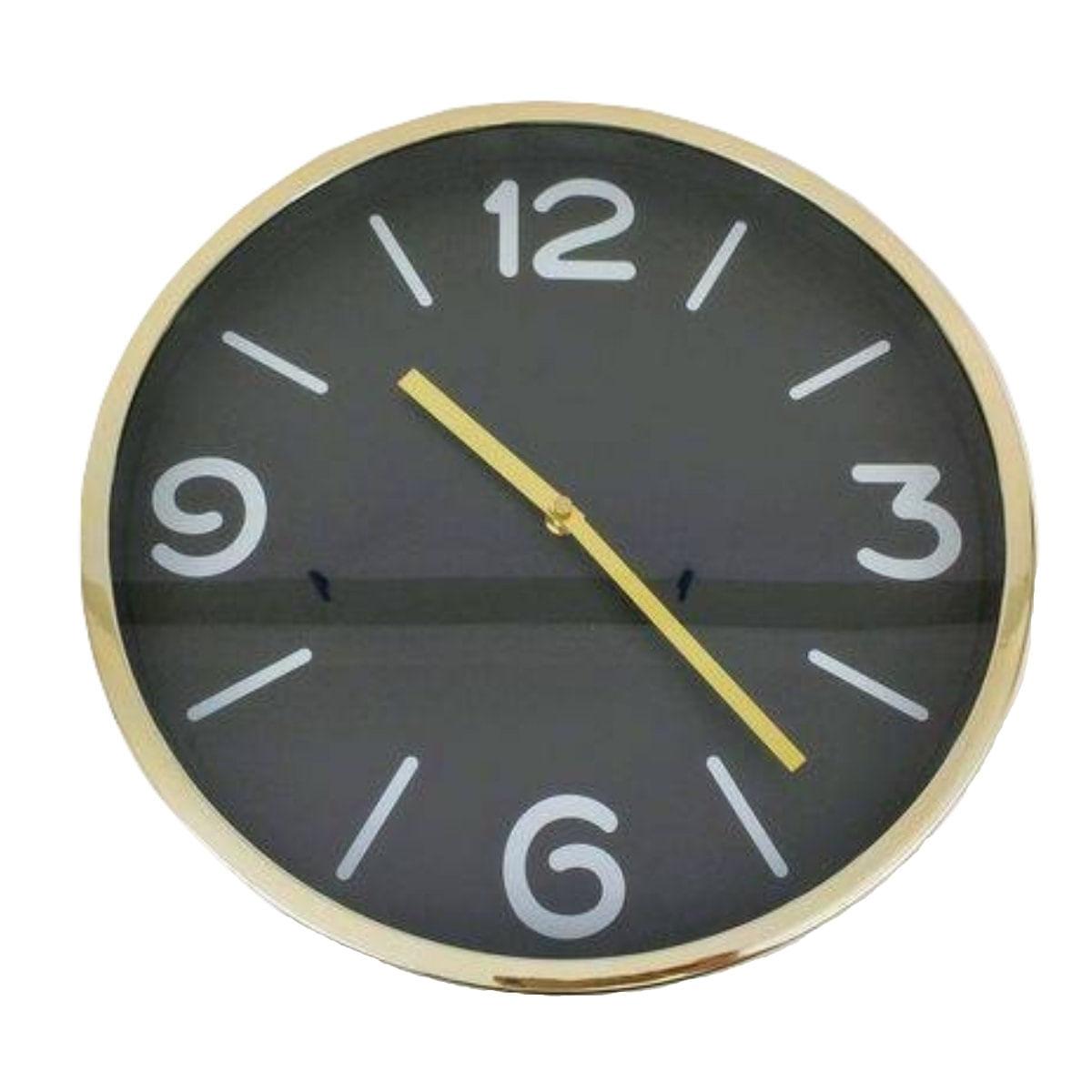 Relógio de Parede - Dourado e Preto