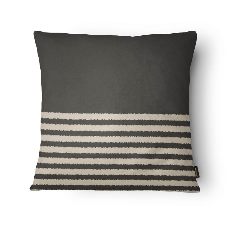 Capa de Almofada - Colors Estampada Cinza Escuro 43cm