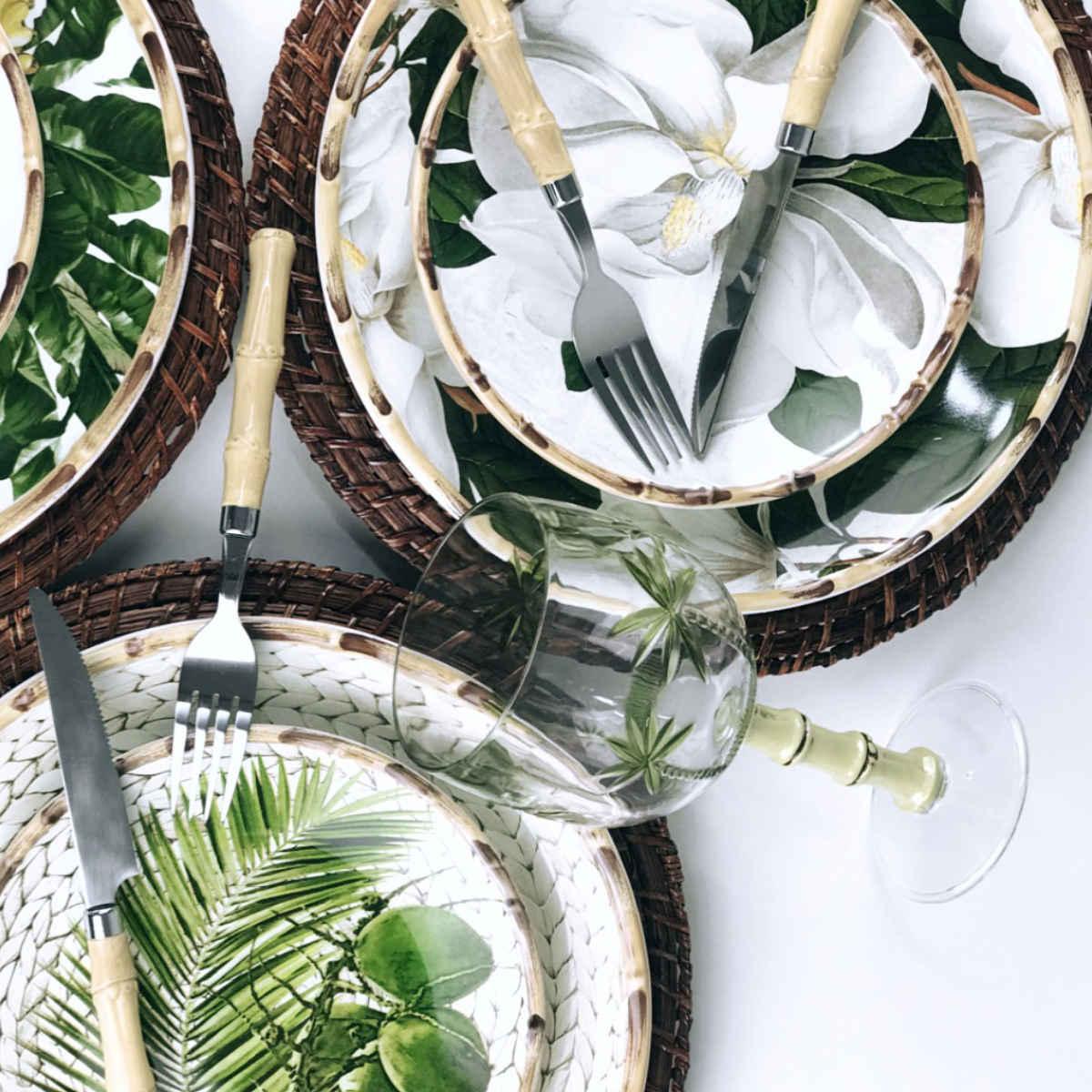 Jogo Taças de Acrílico - Bon Gourmet Palm Tree 450ml (6 Peças)