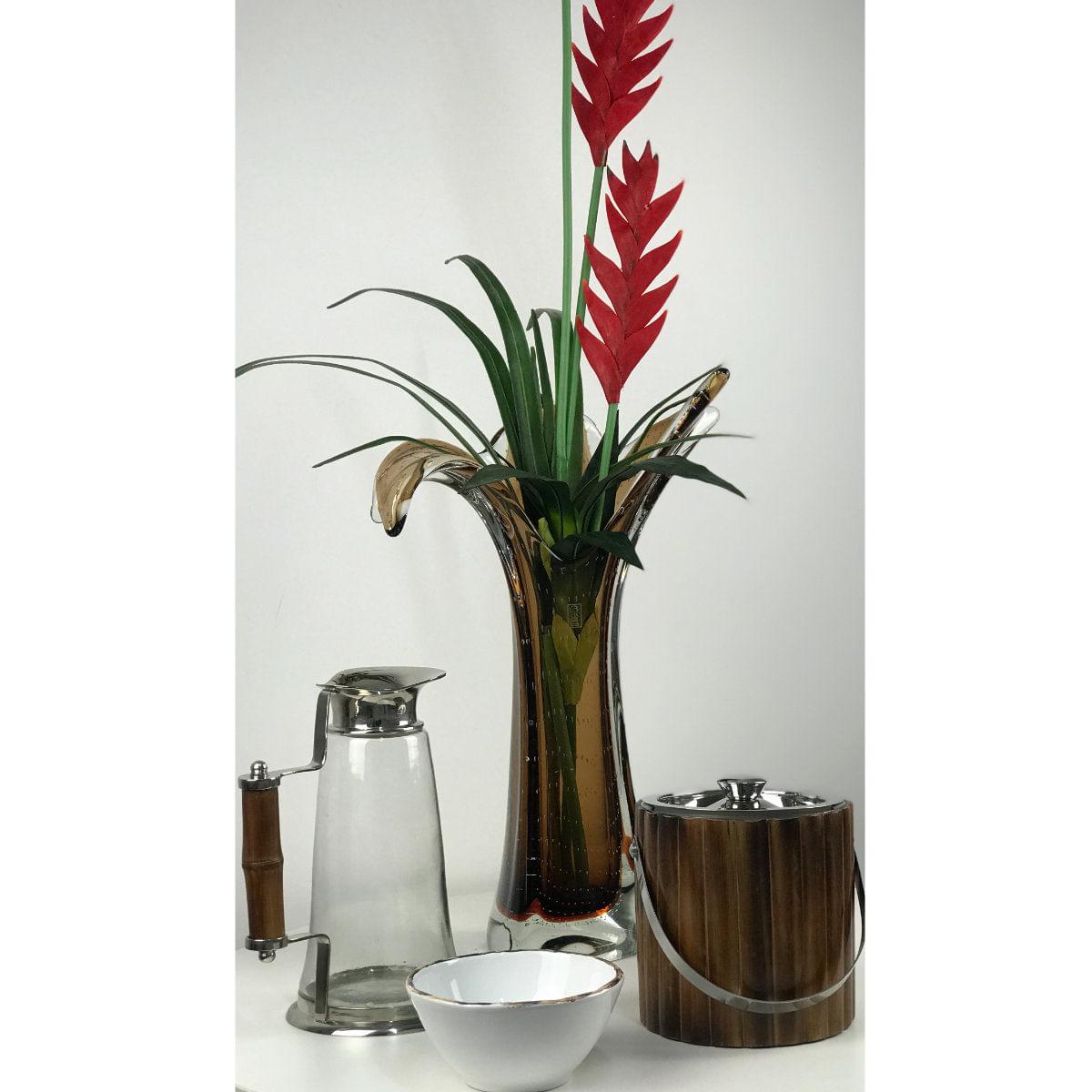 Vaso de Murano São Marcos - Cristal Marrom 49cm