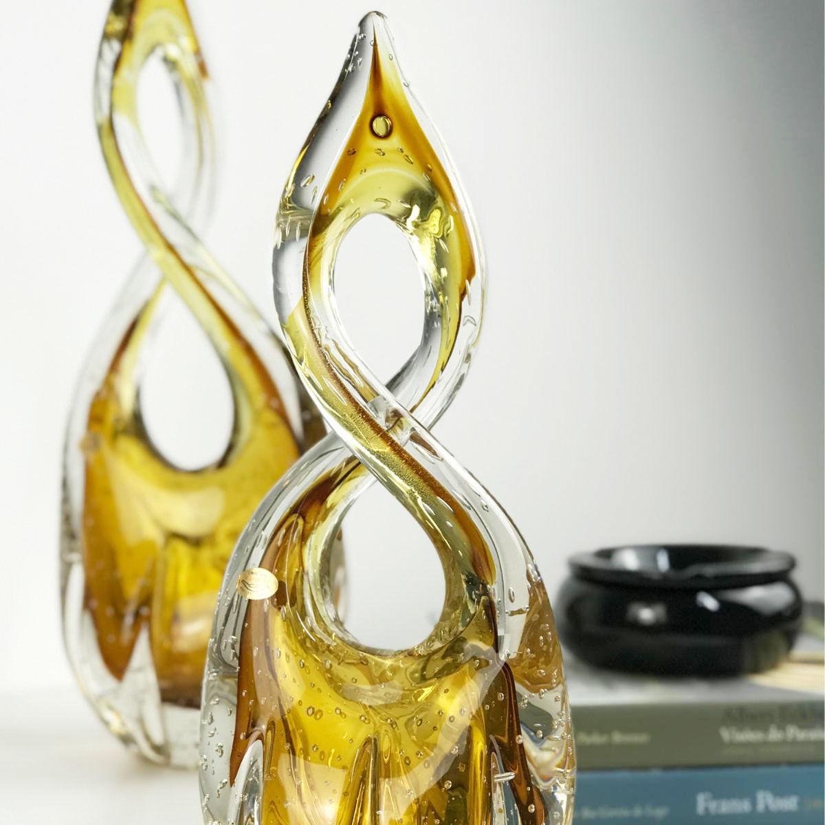 Escultura De Murano D'Labone - Cristal Âmbar 40cm