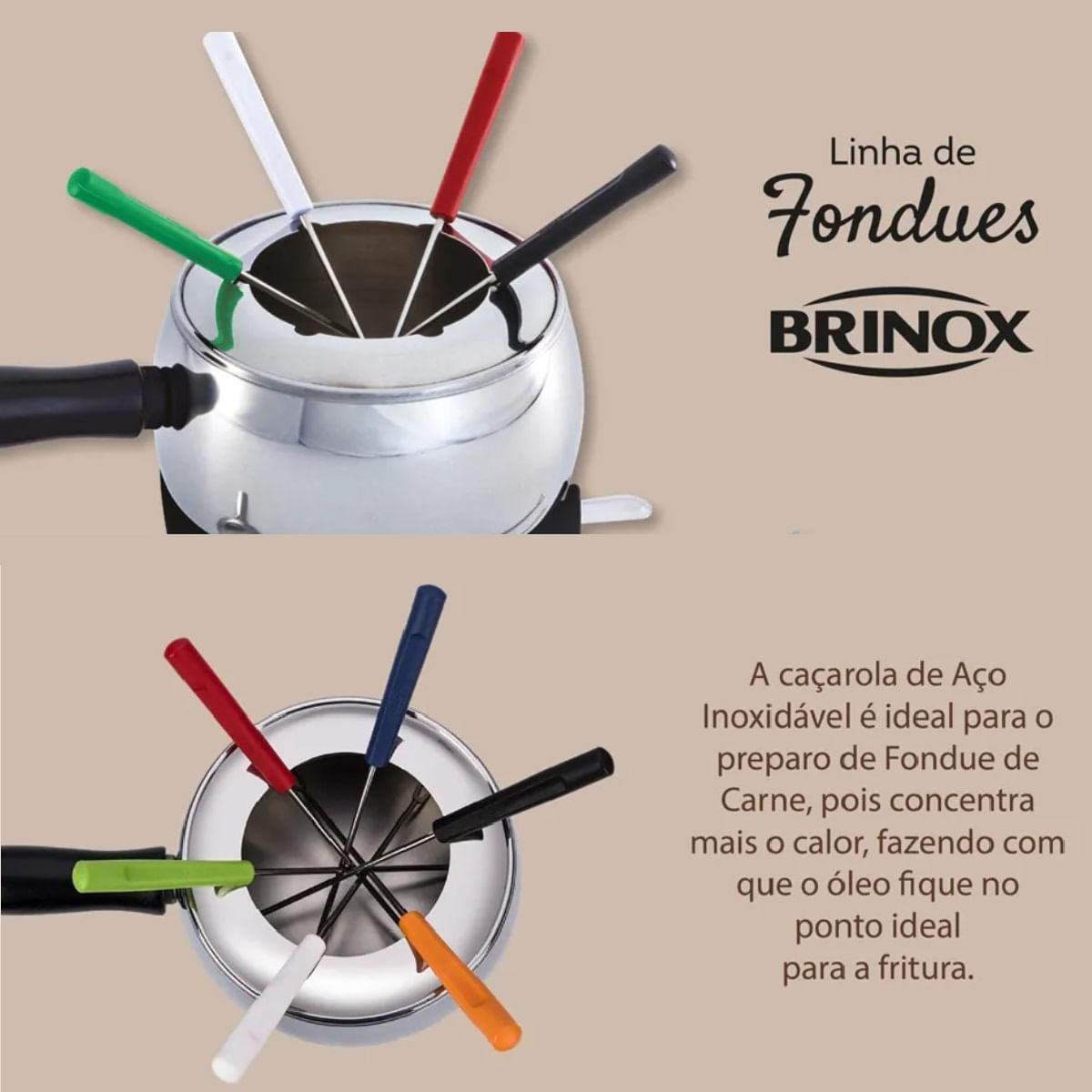 Aparelho de Fondue em Aço Inox - Brinox (18 Peças)
