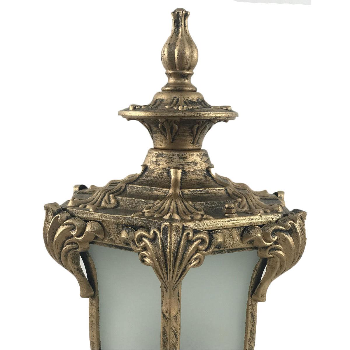Arandela Colonial Ouro Velho Alumínio - Modelo Cannes