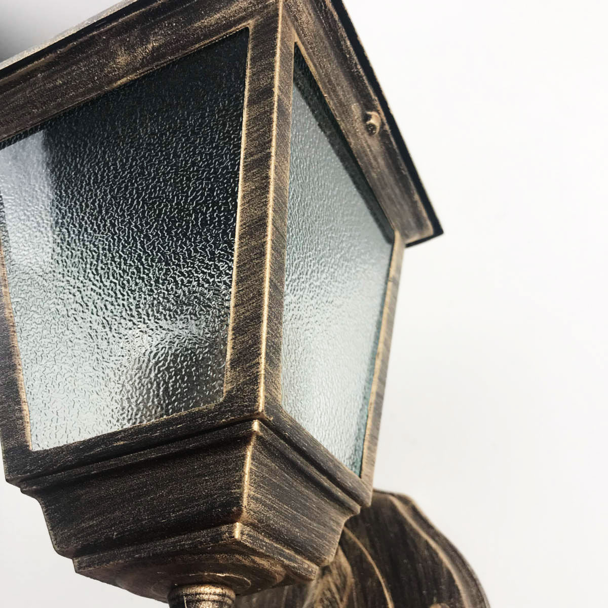 Arandela Colonial 4 Faces em Alumínio - Ouro Velho
