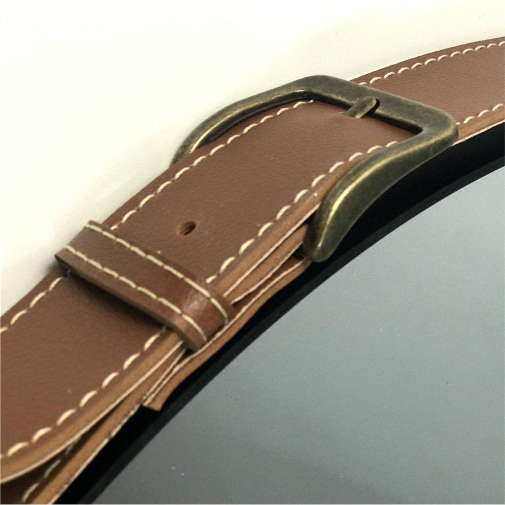 Espelho Redondo Decorativo Onix - Preto Fosco 50cm