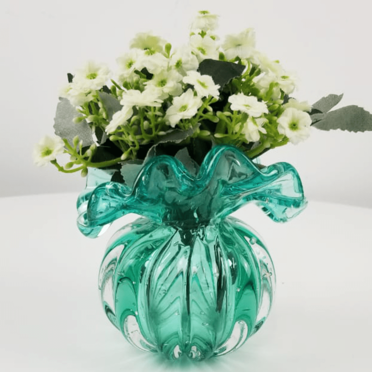 Vaso de Murano Trouxinha D'labone - Cristal Esmeralda 14cm