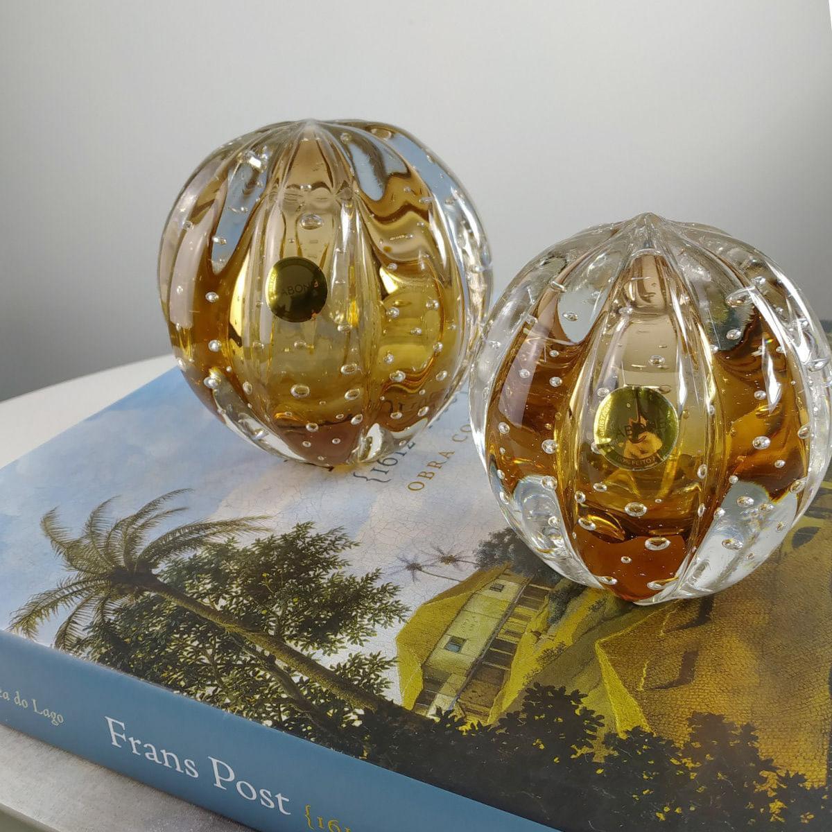 Peso de Cristal Murano D'labone - Cristal Garnet Senna 10cm