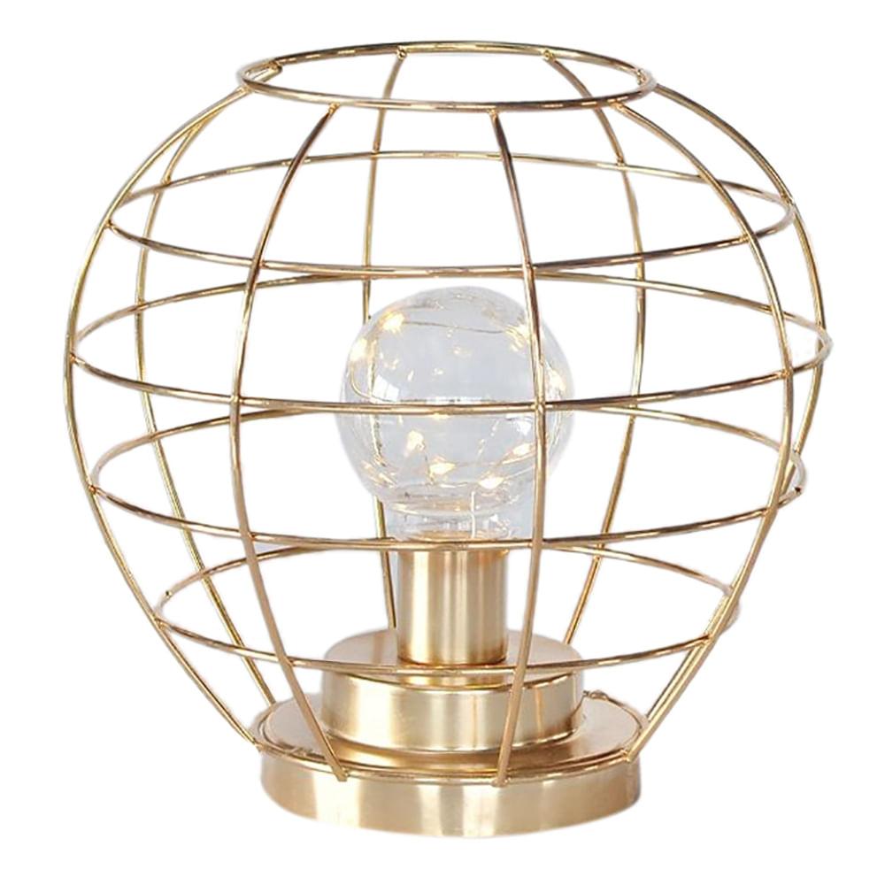 Luminária Decorativa Aramada em Metal - Dourada