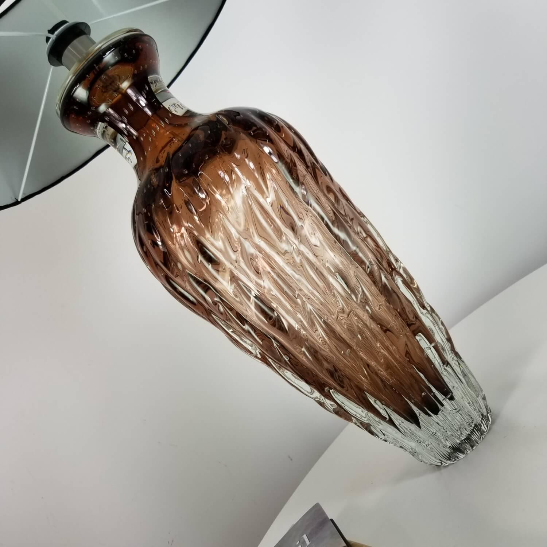 Abajur Grande de Murano Cristais Labone - Marrom Garnet 60cm