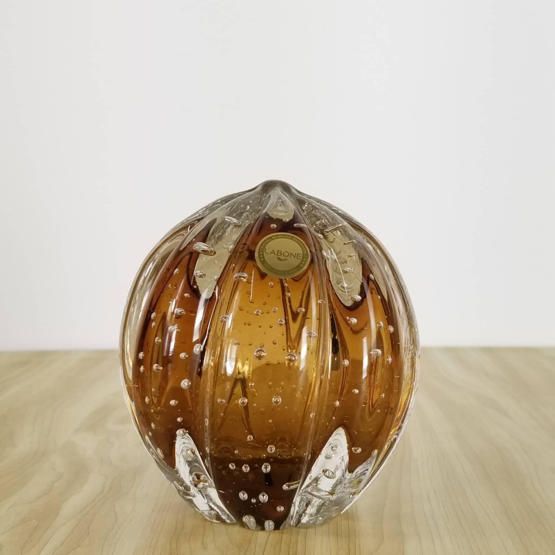 Peso de Papel de Murano Grande - Cristal Marrom Garnet