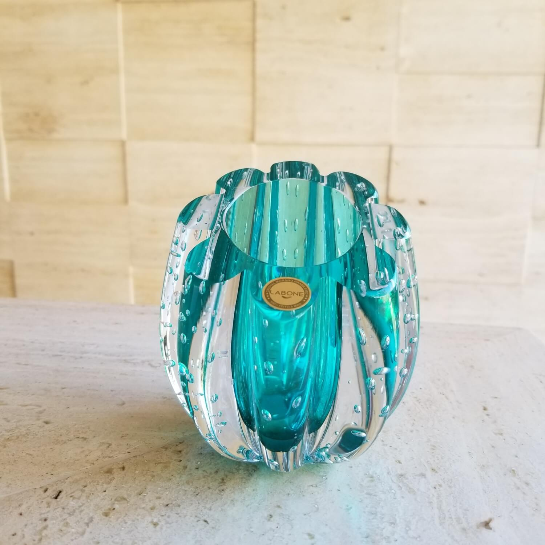 Cachepot de Murano D'Labone - Cristal Marselha Esmeralda 12cm