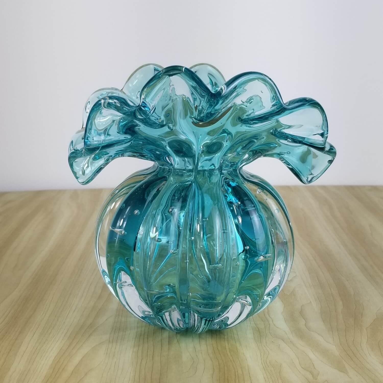 Trouxinha de Murano - Vaso Decorativo de Cristal Verde Esmeralda