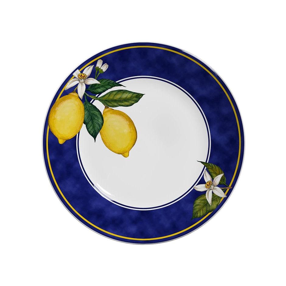 Jogo De Pratos Rasos Scalla Sicília - Limões Sicilianos (6 Peças)
