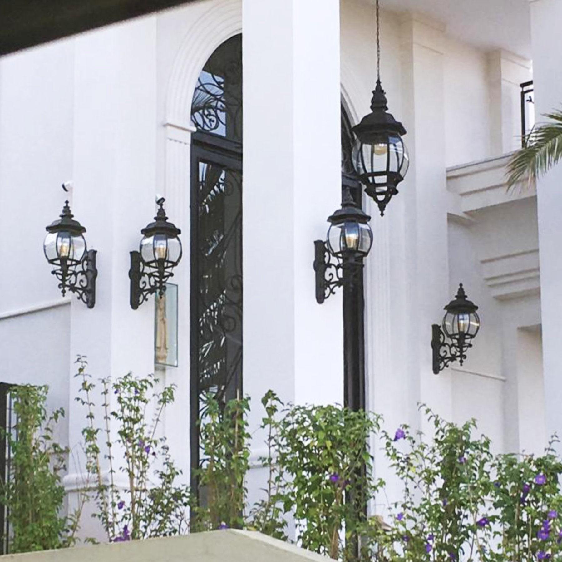 Arandela Colonial Vintage Modelo Lille (Grande) - Preta