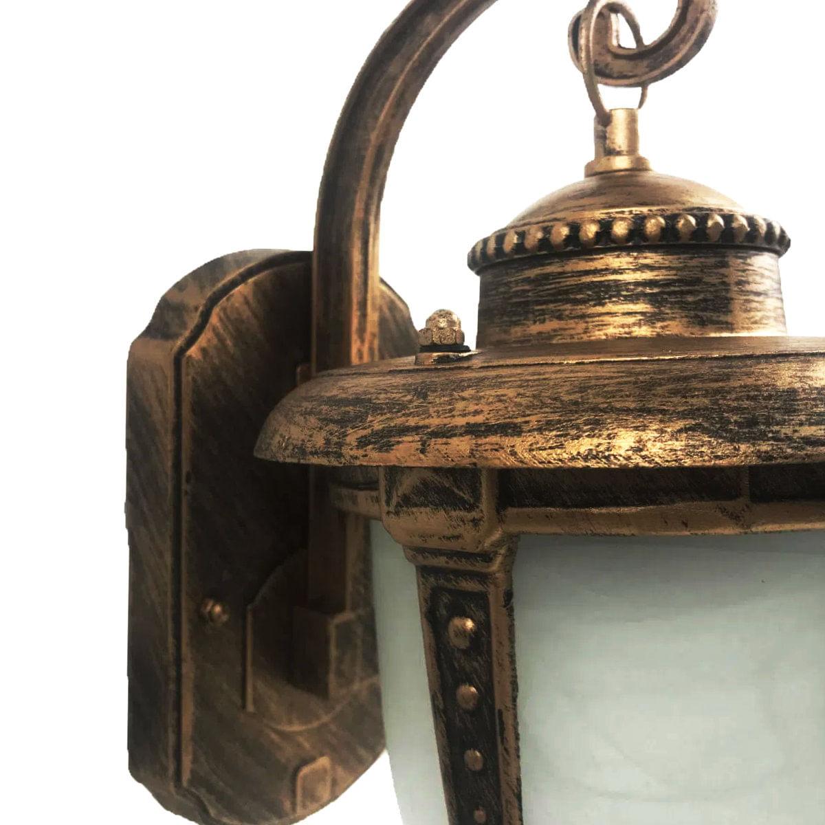 Arandela Colonial Alumínio em Ouro Velho - Modelo Toulouse