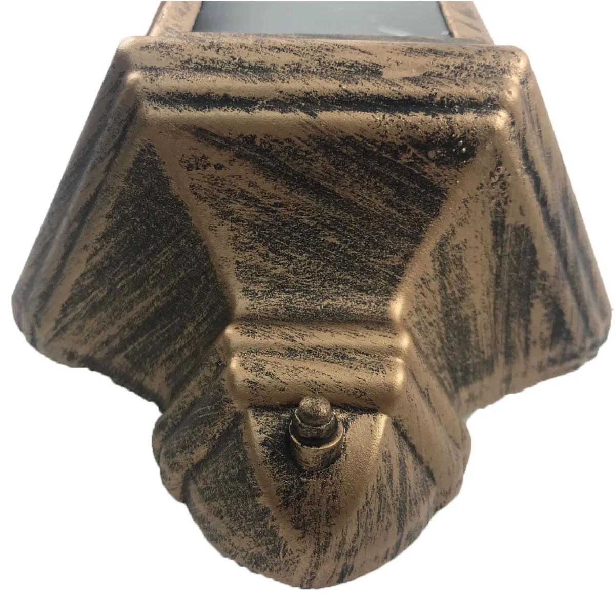 Arandela Colonial Meia Cara - Ouro Velho 35cm
