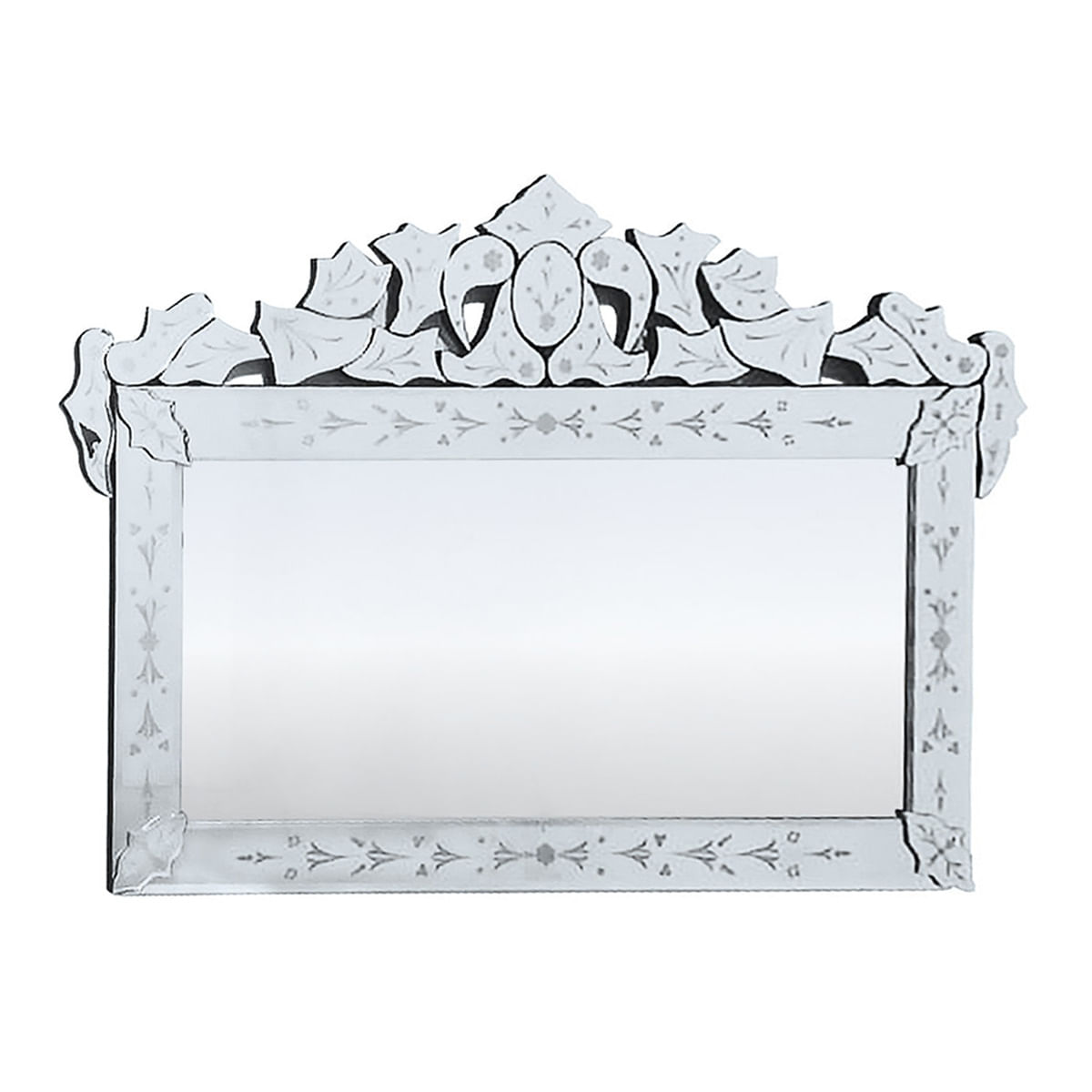 Espelho Grande Retangular 1,2 metro - Veneziano de Moldura Trabalhada