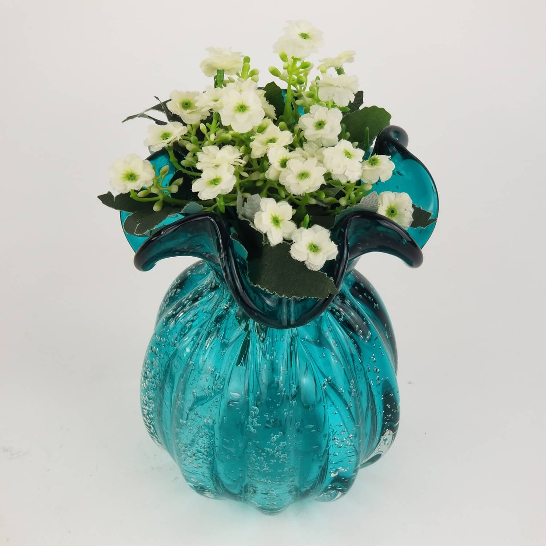 Trouxinha de Cristal Murano - Vaso Decorativo Verde Esmeralda