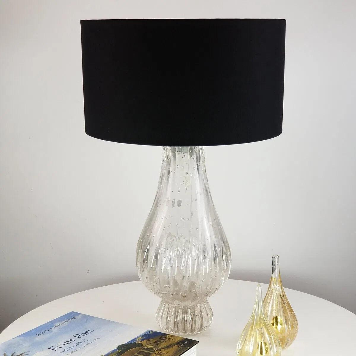 Abajur de Sala de Cristal Murano D'labone - Transparente 50cm