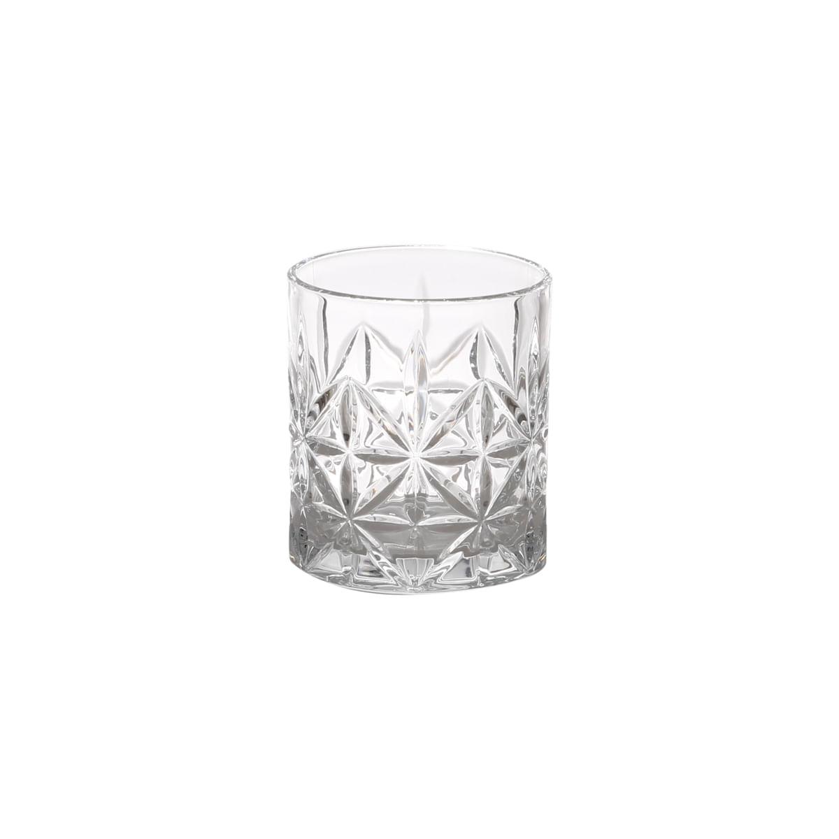 Jogo 6 Copos Baixos de Vidro Bon Gourmet 300ml Água / Whisky
