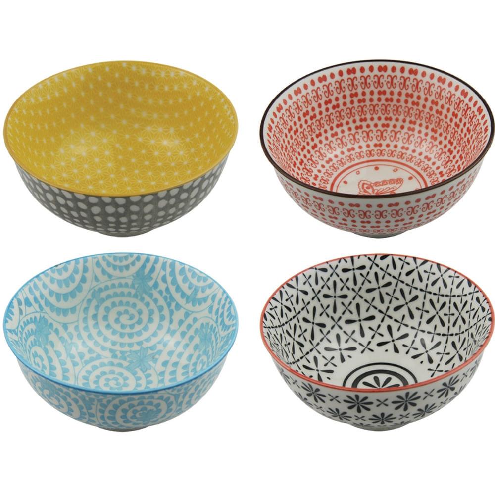 Conjunto De Bowls Com Estampas Sortidas - Daisies (4 Peças)