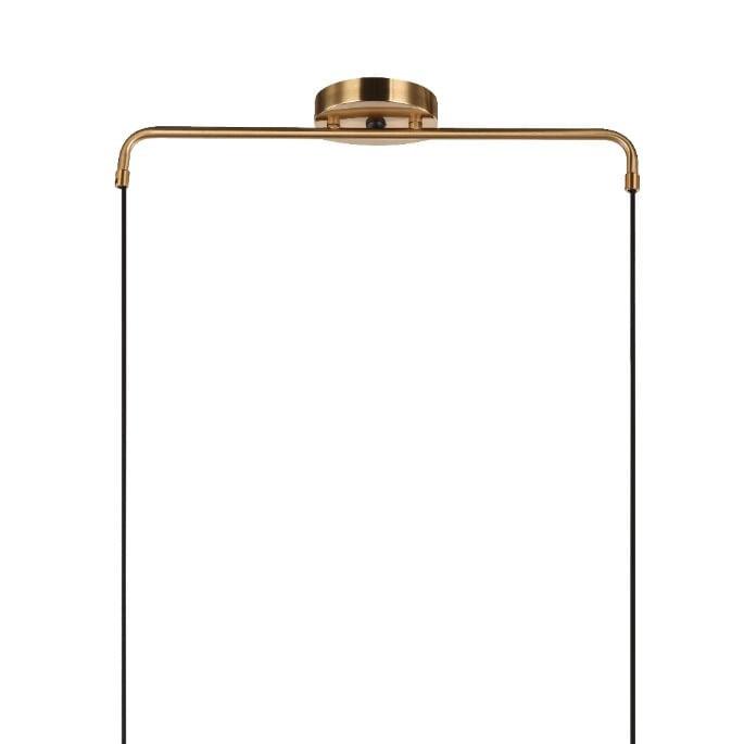 Lustre Pendente Dourado Cadre para Sala de Jantar - 4 Globos