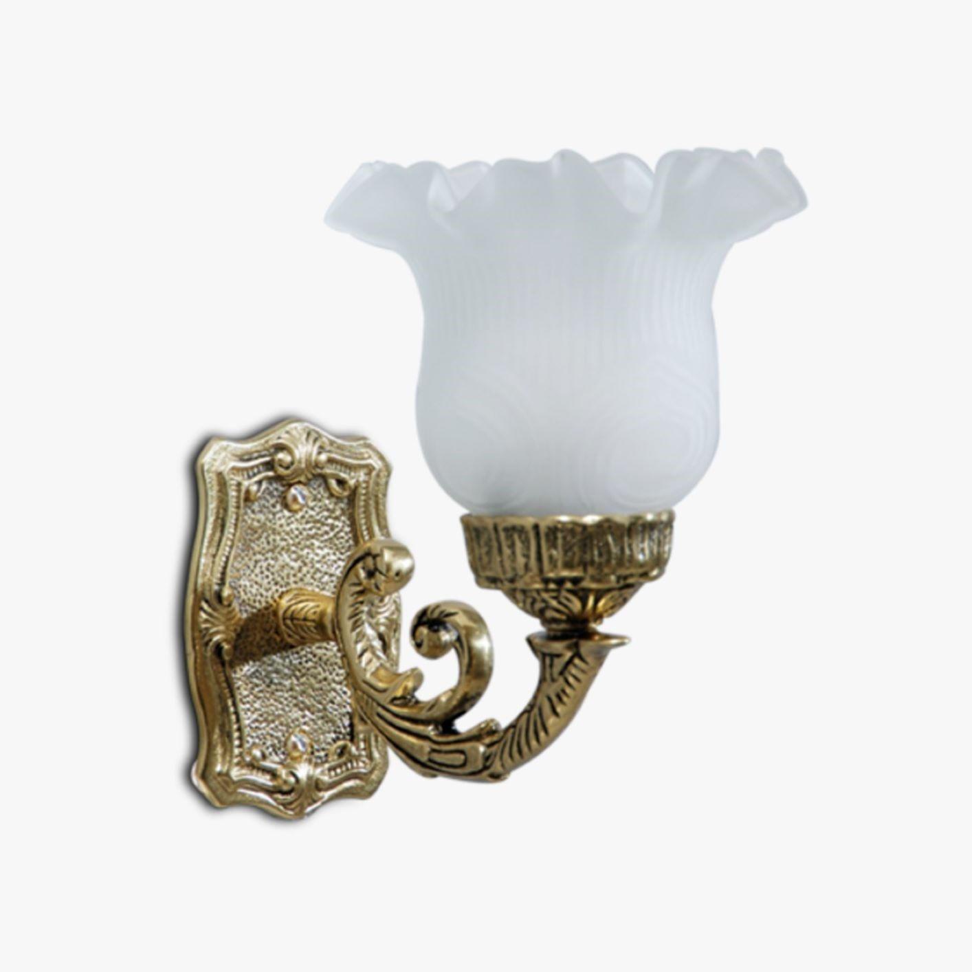 Arandela de Bronze Incolustre - Estilo Clássico Com Vidro