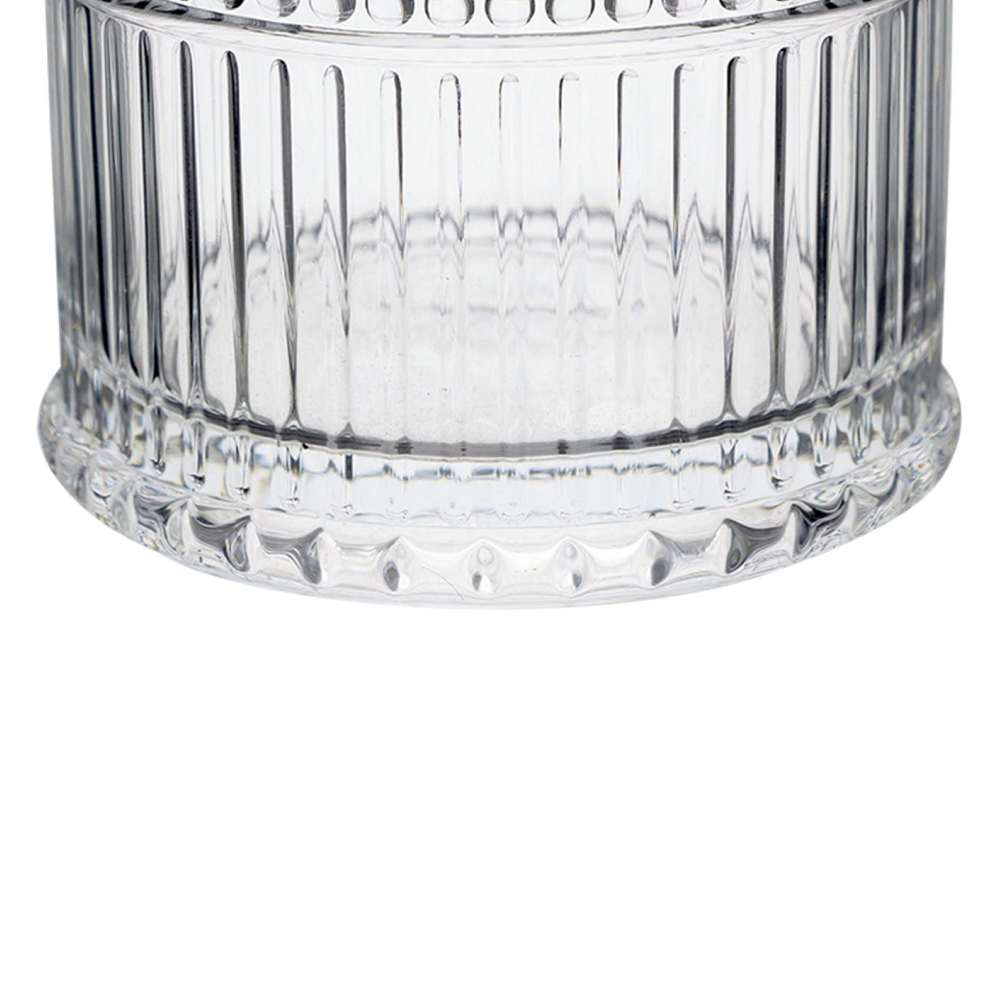 Jogo 6 Copos Baixos de Vidro Com Folhas 320ml Água / Suco